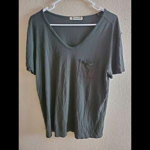 Alexander Wang Green Short Sleeve Tee Shirt Top